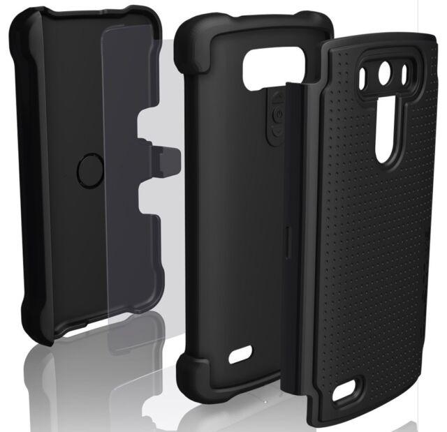 D12 Ballistic SG MAXX Tough Jacket Hard Case w/Belt Clip Holster for LG G3 BLACK