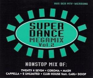 SUPER-DANCE-MEGAMIX-2-zyx7290-TWENTY-4-Seven-Corona-cappella-2-U-Maxi-CD