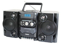 Portable Mp3 Cd Player Cassette Recorder Am/fm Radio Boombox Ac/dc Remote Usb-in
