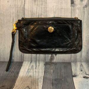 REBECCA-MINKOFF-Black-Leather-Wristlet-Travel-Pouch-Makeup