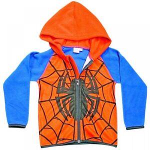 promo code 4cace fcac2 Dettagli su Spiderman Felpa con Cappuccio da Bambino per Cerniera Giacca  Maglia 3 Misure
