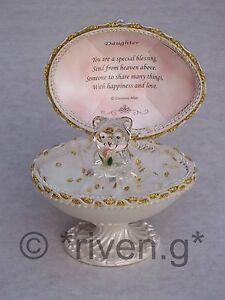 DAUGHTER-Unique-Faberge-EGG-Based-Design-22kt-EASTER-huevo-Gift-Glass-Love-Verso