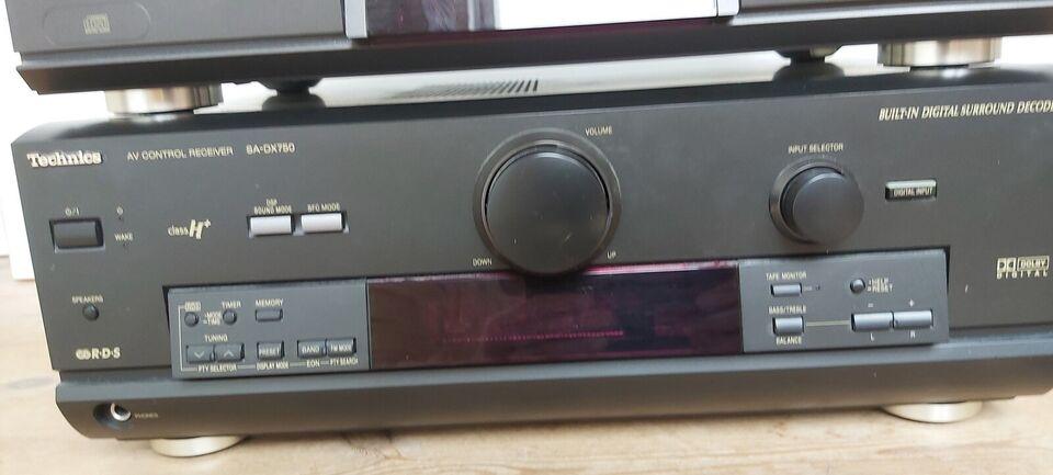 Stereoanlæg , Technics, SA-DX750 og SL-PG3