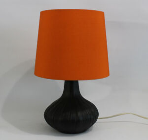 Zwiebel Design Lampe Orange Schwarz Rosenthal Studio Porzellan 70er