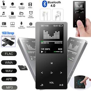 Bluetooth-MP3-Player-16GB-FM-Radio-APE-FLAC-HiFi-Musik-Player-Aufzeichnung-TF-SD