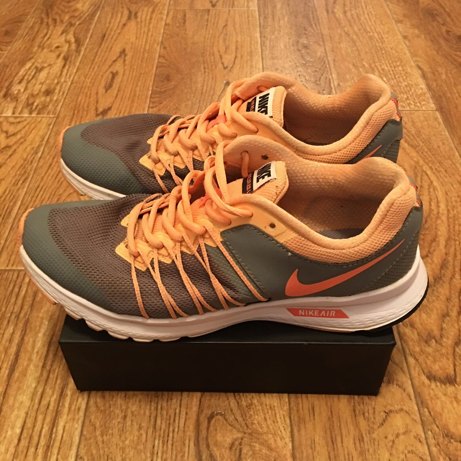 NIKE Womens Air Relentless 6 shoes grey mango 843882 006 US Size 7.5