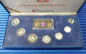 1996-Singapore-Sterling-Silver-Proof-Coin-Set-1-5-Coin