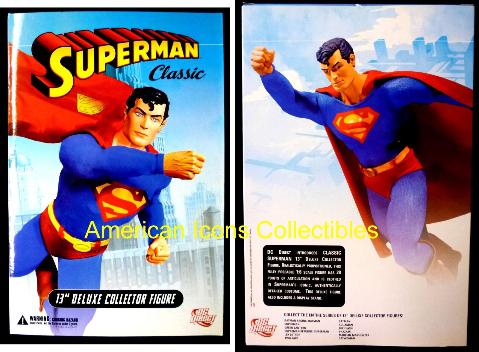 Dc Comics Classic súperman 13 pulgadas en caja Deluxe Figura De Acción Con Soporte + Manos