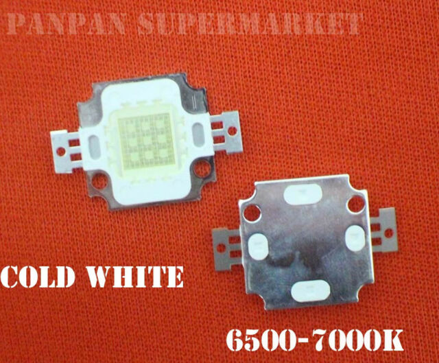 10pcs 10W High Power LED  Cool White 6500-7000k for plant light fish tank