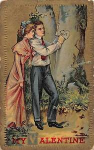lt-A7-gt-VALENTINE-039-S-DAY-Love-Holiday-Postcard-1911-Coshocton-Ohio-Carve-Tree-26