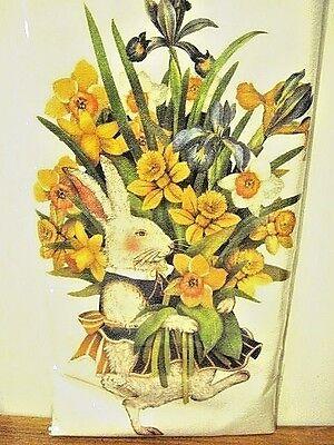 "Mary Lake Thompson ""Rabbit With Daffodils"" Flour Sack Towel"