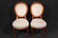 Stuhl, 2 Biedermeier Stühle, Buche, Kirschbaum, Louis Philippe 1850/70 #2267