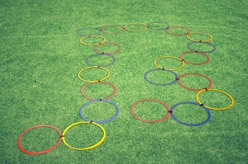 Agility Koordinationsreifen 22er Set Koordination Reifen Ringe rot//blau//gelb