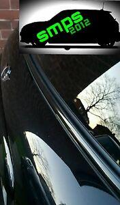 Mini Schwarz Out De-Chrome Premium Beltline Satz R56 Glanz Gürtel Line COOPER S