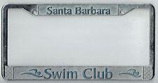 Santa Barbara California Swim Club Vintage Surfing Metal License Plate Frame
