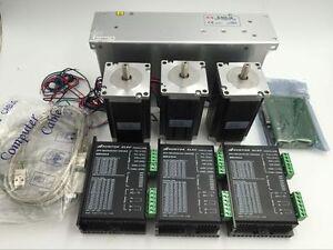 4 Axis Nema 23 Stepper Motor 290oz-in 1A 23HS8610/& Driver CNC Kit