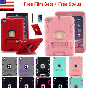 Shockproof-Heavy-Duty-Rubber-With-Hard-Stand-Case-Cover-For-iPad-Air-2-iPad-Mini