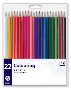 Pack-22-Assorted-Colour-Premium-Colouring-Pencils-Kids-Arts-Crafts