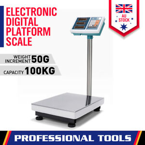 100KG Digital Scales Computing Electronic Platform Postal Shop Weight Fitness