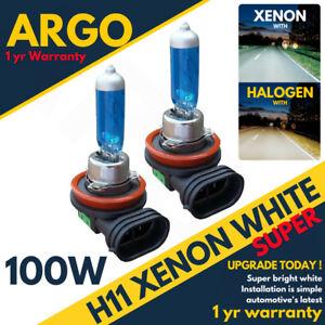 2-X-H11-711-100w-Super-Bright-White-Xenon-Headlight-Front-Fog-Drl-Bulbs-Lamp-12v