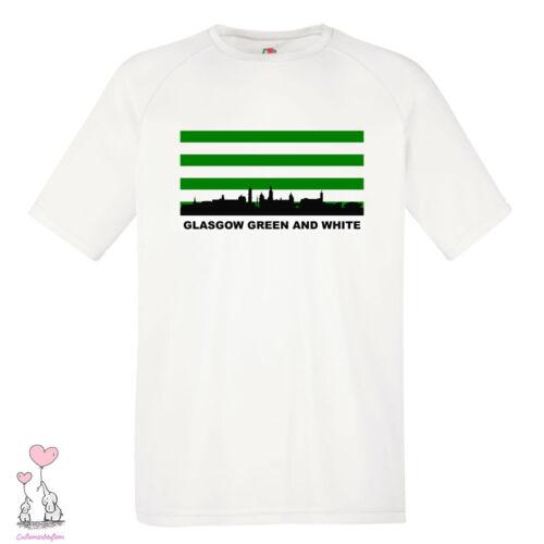 GLASGOW GREEN AND WHITE CELTIC FC INSPIRED SCOTTISH FOOTBALL