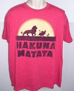 ecf9a7a8 Disney The Lion King Hakuna Matata Men's Tee T-Shirt Large   eBay