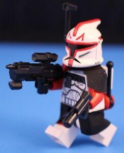 lego star wars custom minifigure phase1 red shock trooper clone