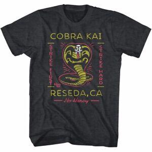 Fashion-Karate-Kid-Black-T-Shirt-Mens-Movie-Cobra-Kai-Tee-shirt