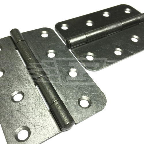 "SELF COLOUR 60 PAIRS OF 4/"" 100mm LIGHT BUTT HINGES WITH RADIUS CORNERS"