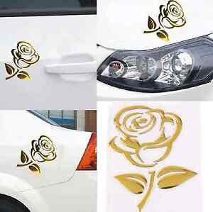 3d aufkleber rose gold autoaufkleber sticker blume. Black Bedroom Furniture Sets. Home Design Ideas