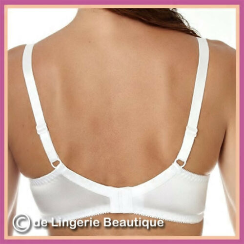 Ivory 46DD Ladies Underwired Satin and Lace Bra Skin Size 34B Black White