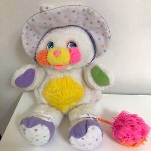Peluche-Doudou-Plush-POPPLES-Bibsy-Vintage-28-cm-Mattel-annees-80