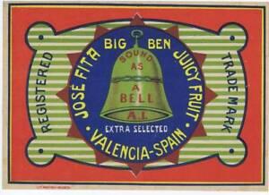 Nuevo planeta jester telescope original Spanish Orange Crate label
