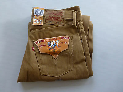 Levis 501 Mens Size 30X34 Shrink to Fit Straight Leg Button Fly Jeans New