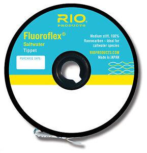 RIO FLUOROFLEX SALTWATER 10 LB. 30 YARD TIPPET SPOOL 100% FLUOROCARBON FREE SHIP