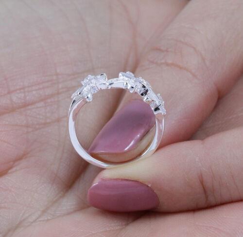 925 Sterling Silver Butterfly CZ Celebration Ring Wedding Band Size 3-14 SE5556