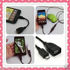 Micro USB OTG Cable Attach Pen drive Card Reader Mouse Keyboard to Mobile Tablet