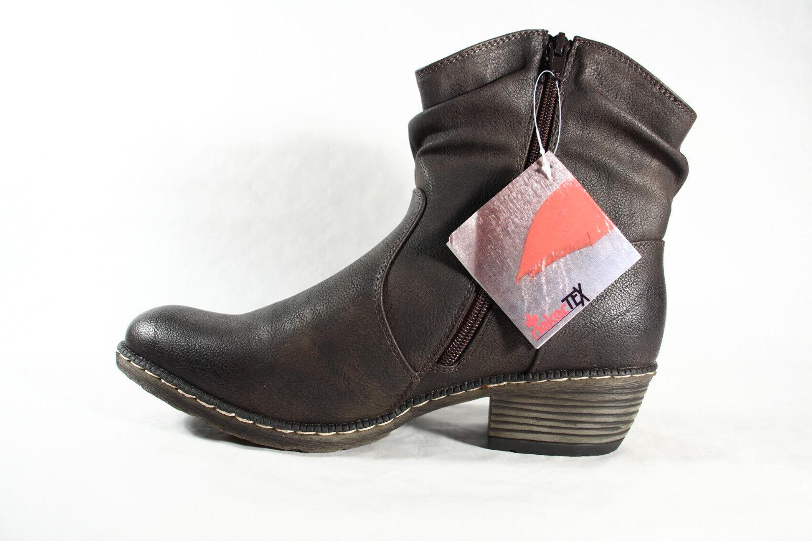 Rieker Botines de botas de Botines invierno cremallera, Forro Cálido 93782 NUEVO 41c619