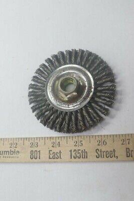 4 Diameter x 3//16 W Weiler 13131 Stringer Bead Knot Wire Wheel 0.02 5//8-11 UNC 20000 rpm
