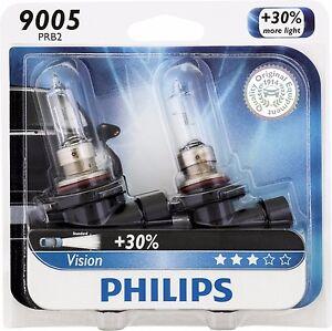 philips 9005 vision upgrade 30 more bright headlight. Black Bedroom Furniture Sets. Home Design Ideas