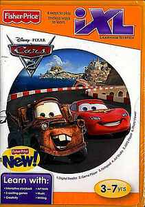 Fisher-Price-iXL-Learning-Software-CD-DISNEY-PIXAR-Cars-NEW-SEALED-FREE-SHIP-US