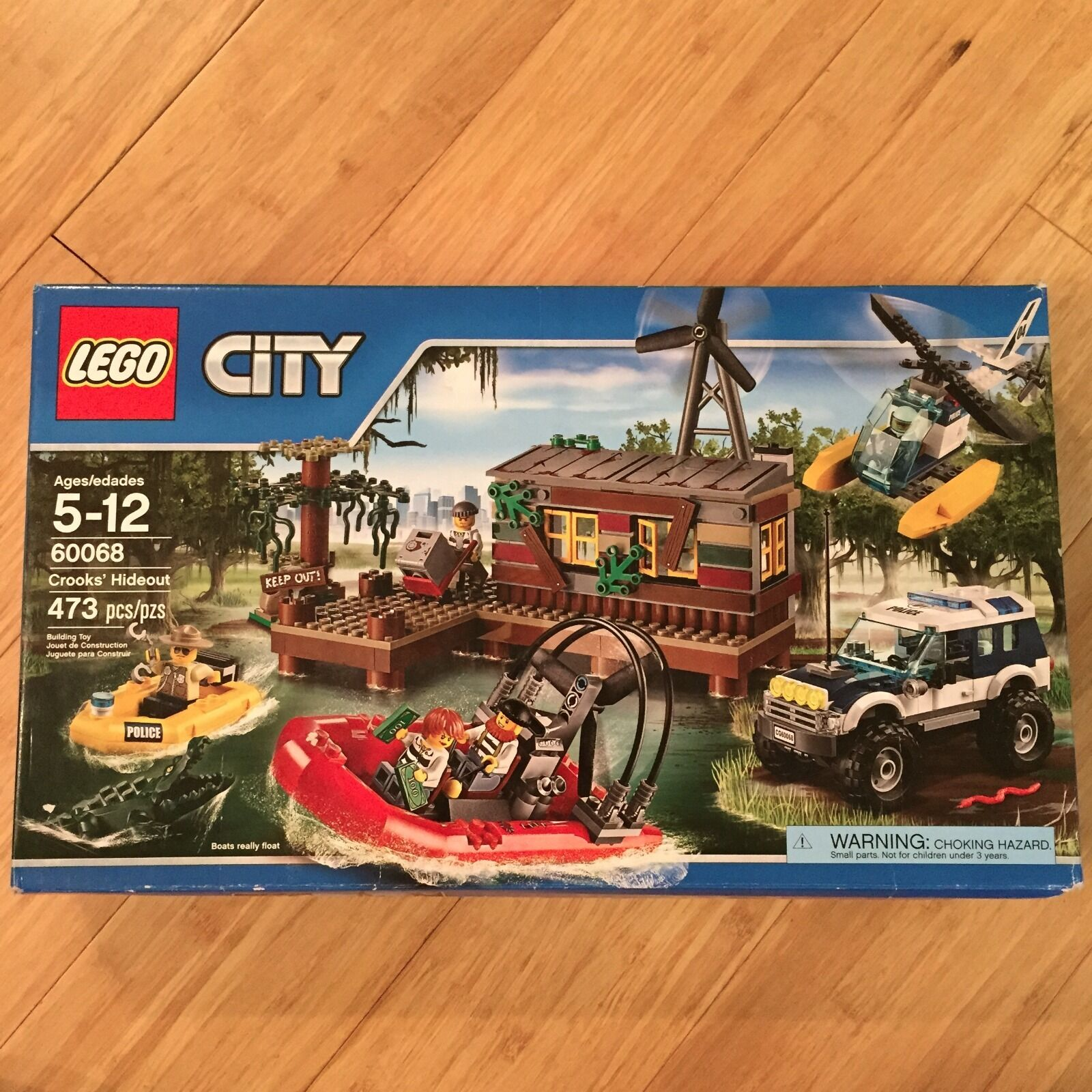 Lego 60068 Crooks' Hideout - Police and Robbers Legos Toy Play Set