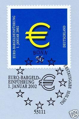 Treu Brd 2002: Dm-aus - Der Euro Kommt! Nr 2234 Mit Bonner Ersttagsstempel! 1a! 1805 Reich An Poetischer Und Bildlicher Pracht
