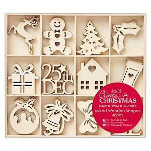 48-Holz-Anhaenger-Christmas-Lebkuchenmann-Christbaum-Baum-Weihnachtsbaumschmuck
