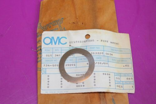 See pic One Part 313220 OMC Shim 1 Acquired from a closed dealership