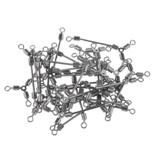 50pcs 3 Way Angeln Angeln Rolling Swivel Solid Rig Ringe Lager Connector