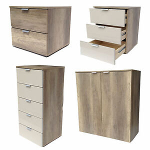 nachtkommode boxspring schlafzimmerkommode kommode wildeiche sand cs schmal ebay. Black Bedroom Furniture Sets. Home Design Ideas