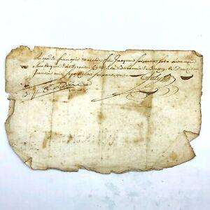 1600-1700's Authentic European Document Legal Work Paper Handwritten Old