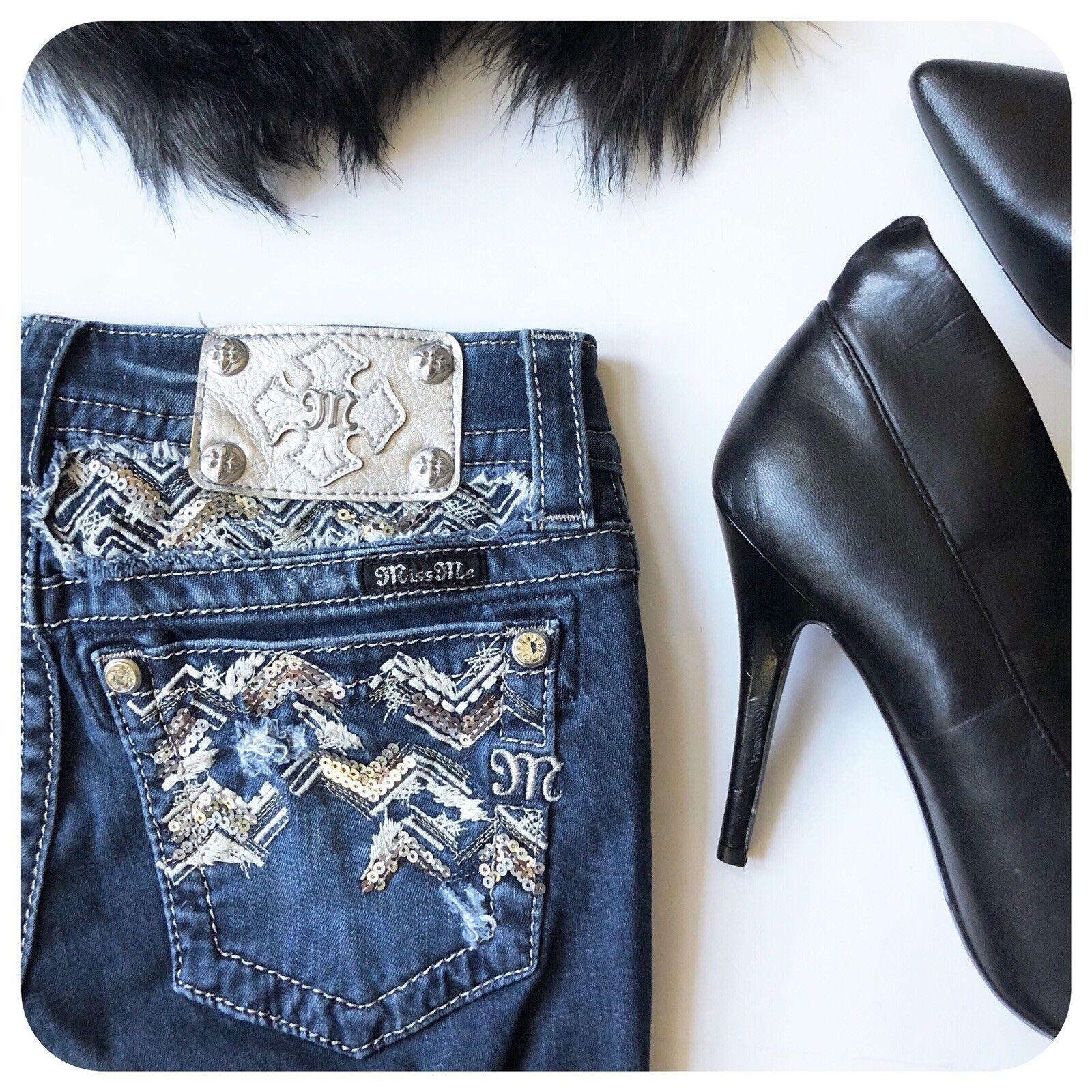 {{ Miss Me }} Skinny Embellished Dark Wash Jeans