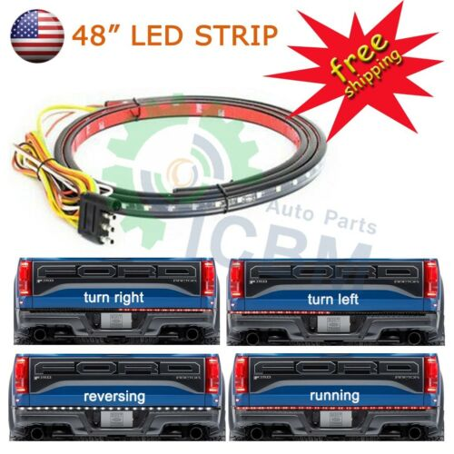 """48/"""" INCH LED TAIL GATE BAR FOR 5 FUNCTIONS TURN SIGNAL REVERSE BRAKE BACK-UP"""